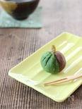 二色のさつま芋の茶巾絞り