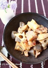 『ご飯がすすむ! * 鶏肉と根菜のごま味噌炒め煮』