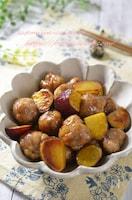 豚こま肉で簡単!肉団子とさつま芋の甘酢絡め#簡単#節約#弁当