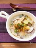 手羽先と春雨のニラだれ薬膳スープ