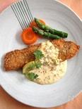 秋鮭のフライ味噌タルタルソース添え