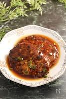 タケノコとニラ茎の中華ハンバーグ