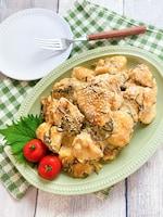 しっとり美味しい☆鶏むね肉と塩昆布のマヨポン和え