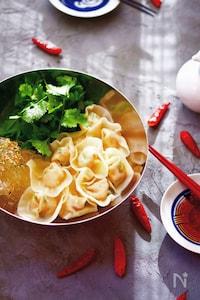 豆腐たっぷりヘルシー水餃子