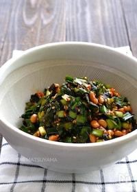 『最強おつまみ!ご飯のお供!ごまニラ海苔チャンジャ納豆』
