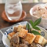 厚揚げ豆腐とこんにゃくの甘辛味噌炒め【作り置き】