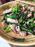 スピード・おかず☆小松菜と豚肉の塩昆布炒め