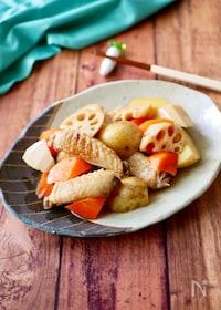 『『オイスターソースで和食』手羽中と新じゃがの簡単照り煮』