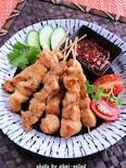 鶏むね肉でインドネシアの焼き鳥サテー