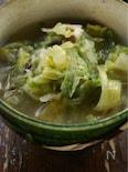 これ一品で野菜350gのランチスープ、レタスのスープ