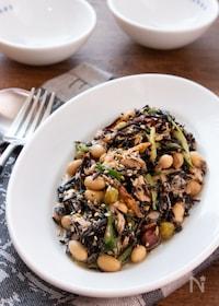 『【デリ風サラダ】栄養豊富!ひじきと豆の彩りサラダ』