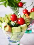 【簡単3分レシピ】♡チキンとトマトのコロコロサラダ♡