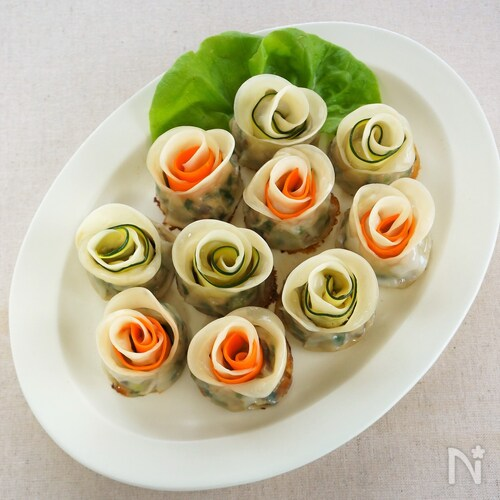 彩り薔薇餃子