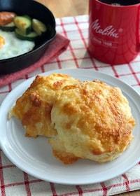 『朝ごはんに♪ホットケーキミックスでチーズパン』