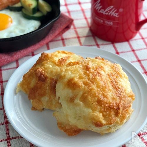 朝ごはんに♪ホットケーキミックスでチーズパン