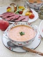 夏野菜を美味しく食べよう♬トマトの冷製スープ★ガスパチョ