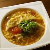 餃子のトマト☆酸辣湯☆サンラータン