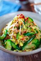 『きゅうりとツナもやしの中華風サラダ』簡単ささっと副菜♪