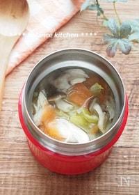 『【スープジャー】ささみとキャベツのごまみそスープ』