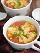 かきたまトマトの中華スープ