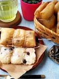 ココナッツミルクもち米と黒豆バナナの包み蒸し