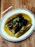 茄子の麺つゆ生姜炒め