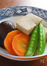 『味しみしみ〜滋味溢れる高野豆腐の含め煮』