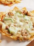春巻き皮で作るミニピザ、納豆ピザ