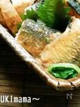秋刀魚のガーリックソテー甘味噌ソース煮