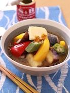 カレー香る 夏野菜とさば缶のコクうま味噌汁