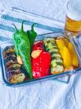 パンチの効いた夏野菜のスタミナ揚げ浸し
