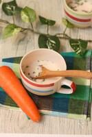 ふわふわ人参のミルクスープ