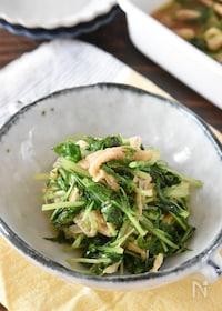 『家庭料理の定番♪水菜と油揚げの煮浸し【作り置き】』