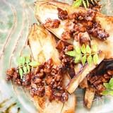 甘辛鶏そぼろ味噌の茄子田楽