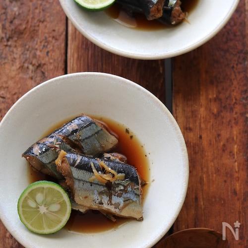 秋刀魚の生姜煮。