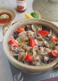 『スイチリだれが味の決め手!『豚肉とあさりのアジアン鍋』』