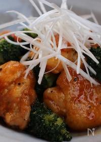 『鶏もも肉とブロッコリーのコチュジャン炒め』