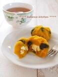 簡単!おせちにも。黒豆とかぼちゃのクリームチーズ茶巾