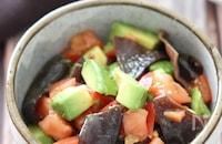 スプーンでモリモリ食べられる♡アボトマキクラゲの中華サラダ