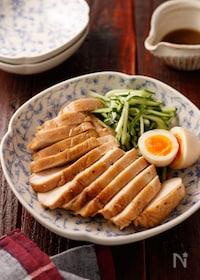 『むね肉deうまだれ鶏チャーシュー【#冷凍保存 #レンジ】』
