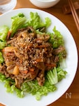レタスもモリモリ!『こってり。やわらか肉野菜炒め』#常備野菜