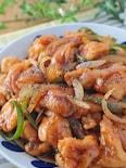 胸肉柔らか♪鶏胸肉とピーマン・玉ねぎの黒胡椒甘酢炒め
