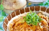 ご飯がすすむ♪豚肉とキノコの梅シソ照り焼き