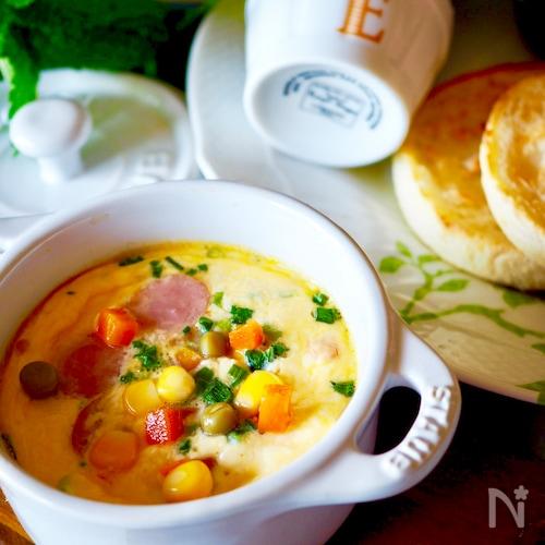 【簡単時短レシピ】♡オーブントースターでスクランブルエッグ♡