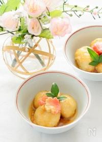 『ストウブで小芋と生麩の揚げ煮』