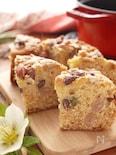 オイルとHMで簡単*しっとりふわふわ生地のお豆のケーキ
