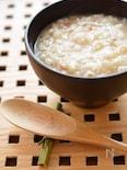 炊飯器で簡単に、麦入りかつお節のお粥