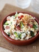 煮豚とチーズのポテトサラダ