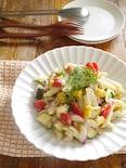 夏野菜とツナのペンネサラダディル風味