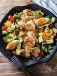 ひと皿で大満足サラダ☆『レモンガーリックチキンサラダ」